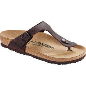 Birkenstock Gizeh Flips Oiled Leather Regular, habana
